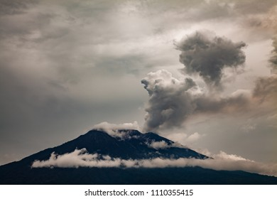 Eruption of Mt. Agung volcano in east Bali, Indonesia.