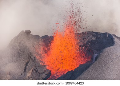 "Eruption of the vulcano ""Piton de la Fournaise"" at the island of ""La Reunion"" on September 16th 2016"