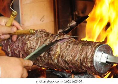 https www shutterstock com image photo erzurum cag kebab cooked on fire 1618562464