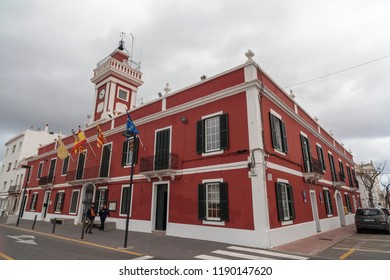 ES CASTELL,SPAIN-APRIL 5,2013:Traditional building, british style, Es Castell,Menorca,Spain.