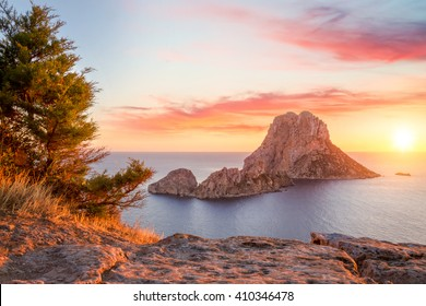 Es Vedra at sunset, Ibiza, Spain