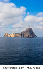 Es vedrà view from the high seas while traveling out of Ibiza by boat.