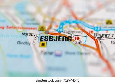 Esbjerg Map Images, Stock Photos & Vectors   Shutterstock