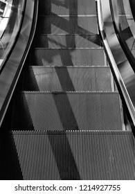 Escalator Black and White Textrue