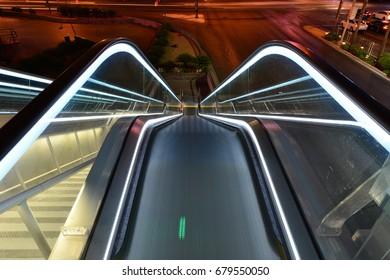 Escalator in Las Vegas early in the morning
