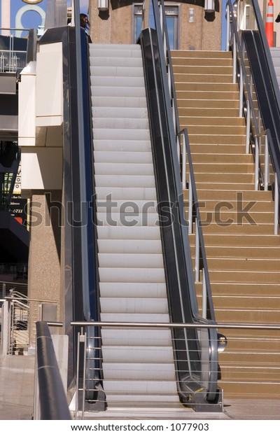 Escalator in Las Vegas Strip in the Street