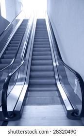 the escalator of a market.