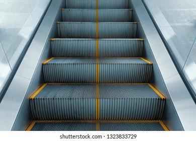 escalator in modern business building