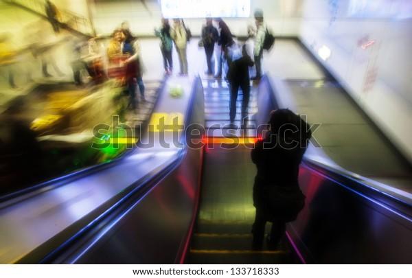 escalator moving