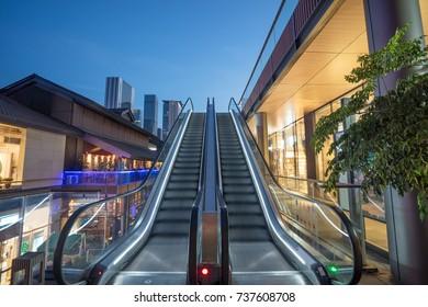 escalator at outdoor