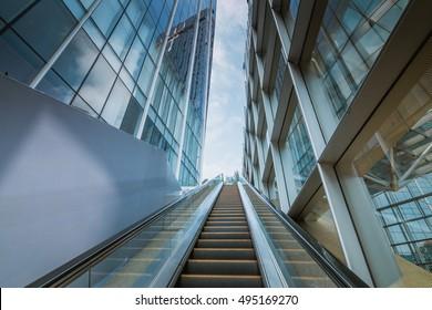 escalator in the outdoor, urban landscape,Guangzhou China
