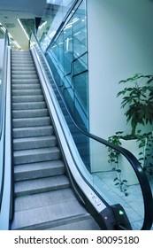 Escalator in a shopping mall