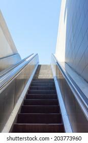 Escalator from underground station.