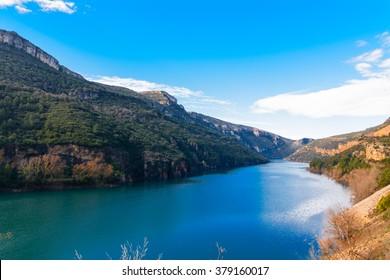 Escales lake in Catalonia (Spain)