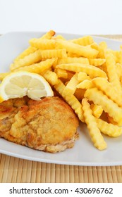 escalope and french fries