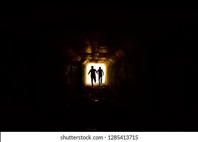escape from the dark tunnel