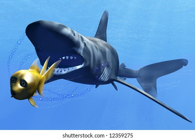 escape of fish from shark
