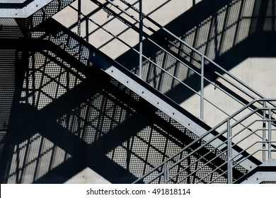 Escape stairs escape route to an industrial building