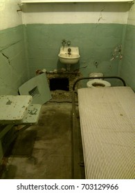 Escapee's cell with widened vent opening at Alcatraz
