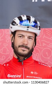 ESCHBORN, GERMANY - MAY 1st 2018: Julien Bernard (Trek-Segafredo) at Eschborn-Frankfurt cycling race