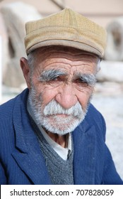 ESFAHAN, IRAN, MAY 2013: ELDERLY MAN FROM A SMALL VILLAGE IN ESFAHAN PROVINCE