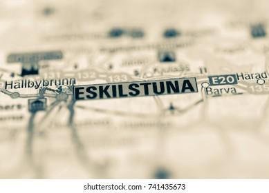Eskilstuna on map.
