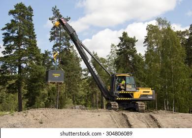 Eskilstuna, Sweden, June 25, 2015: Pipelayers Volvo PL 3005D, Volvo Days 2015, Eskilstuna