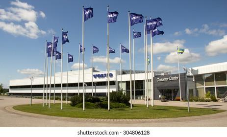 Eskilstuna, Sweden, June 25, 2015: Volvo customer center at Eskilstuna, Sweden