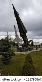 Eskisehir / Turkey - April 08, 2017: MIM-14 Nike Hercules Missile, Eskisehir Aviation Museum