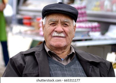 ESKISEHIR, TURKEY - NOVEMBER 15, 2014: Old Anatolian People ( Turkish old man ) portrait