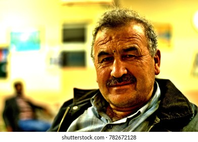 """ESKISEHIR, TURKEY - NOVEMBER 15, 2014: The Old Turkish Rural man is in His Traditional Clothes Who lives in a Small Town of Turkey """
