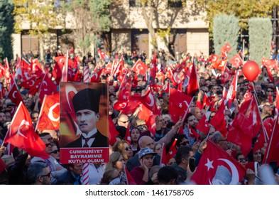 Eskisehir,TURKEY-October 29, 2018: Republic day celebrations in Eskisehir/ Turkey.