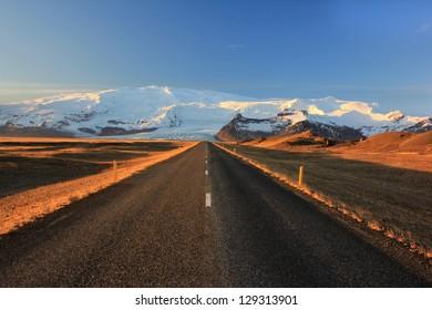 esolate roads around Vatnaj