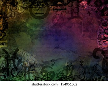 esoteric magic colorful astrological background