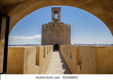 Espantaperros Tower is the most outstanding of the Albarran towers of the Arab Citadel and one of the most characteristic symbols of Badajoz, Spain