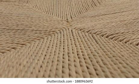 esparto grass chair as background