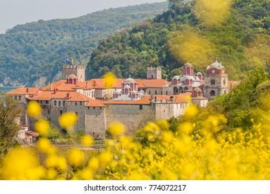 Esphigmenou monastery Mount Athos