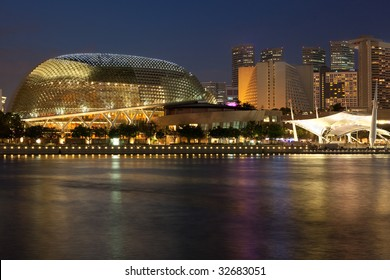The Esplanade concert hall and theatre, also known as the durian by locals
