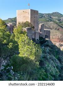 Espolon Tower at Lorca Castle, Murcia Province, Spain