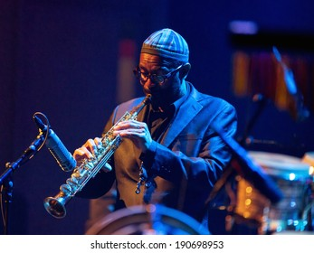 ESPOO, FINLAND -APRIL  24 2014:American Kenny Garrett performs live on 28th April Jazz.He is a Grammy Award-winning jazz saxophonist and was a member of Duke Ellington Orchestra &  Miles Davis's band