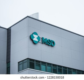 ESPOO, FINLAND - NOVEMBER 11, 2018:  MSD companys logo of the wall of office building in Espoo Finland