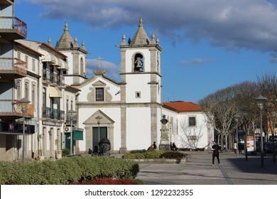 Esposende / Portugal - January 21, 2019: Mother Church of Esposende, Portugal.