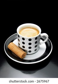 Espresso with biscuit