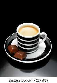 Espresso with chocolate