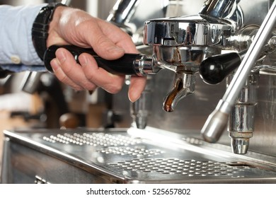 Espresso coffe machine, selective focus