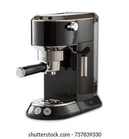 espresso coffee machine isolated on white background.