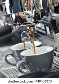 Espresso coffee maker - barista style