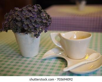 Espresso Coffee with tea on the set/Espresso Coffee/Espresso Coffee everyday