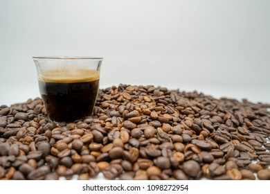 espresso and coffeebeans in thailand