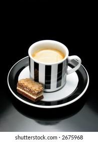 Espresso with cracker